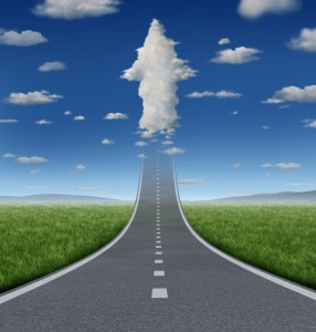 Aspirations - highway and arrow cloud