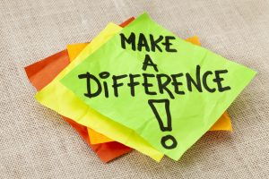 Barriers & signs - make a difference post it note