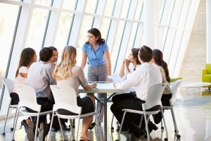 Business People - Having Board Meeting In Modern Office