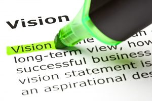 Vision & Sight -vision definition with green highlighter