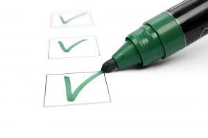 Checklist - green marker