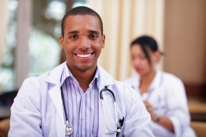 Business professional -male african american doctor