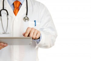 healthcare - doctor with tablet