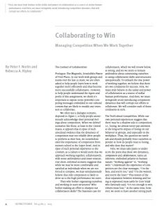 Collaborating to Win: Managing Competition when we Work Together (OD Practitioner)
